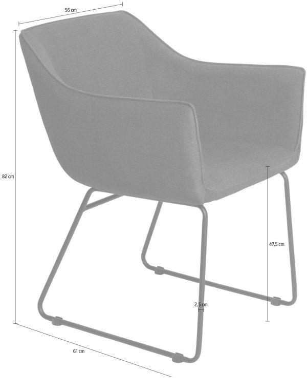 Söögilaua tool 'SIT' käetugedega, pruun või must kunstnahk