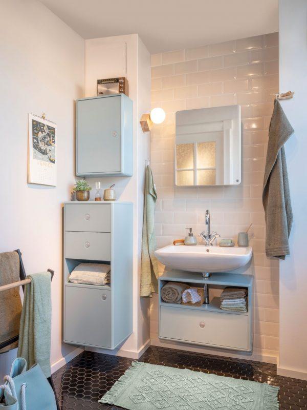TOM TAILOR vannitoakapp 'COLOR BATH', seinapealne, 40cm, 2 Push-To-Open sahtlit ja uks