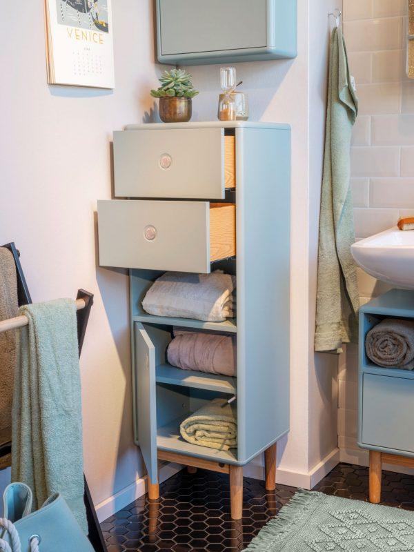 TOM TAILOR vannitoakapp 'COLOR BATH', põrandapealne, 40cm, 2 Push-To-Open sahtlit ja uks