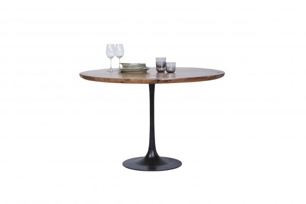 TOM TAILOR söögilaud 'T-MODERN TABLE ROUND', mangopuidust, ⌀ 120cm