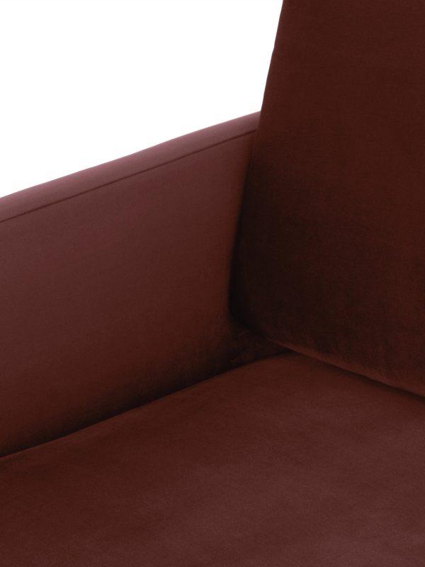 Diivan 2-kohaline 'FLUETTE', elegantne disain, metallist jalad