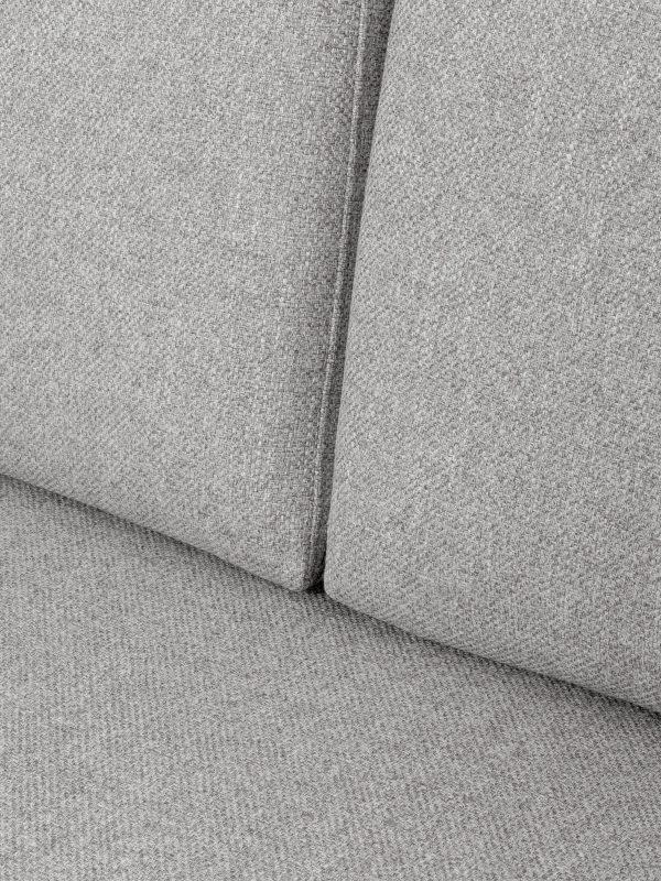 Kanapee 'FLUETTE', elegantne disain, metallist jalad
