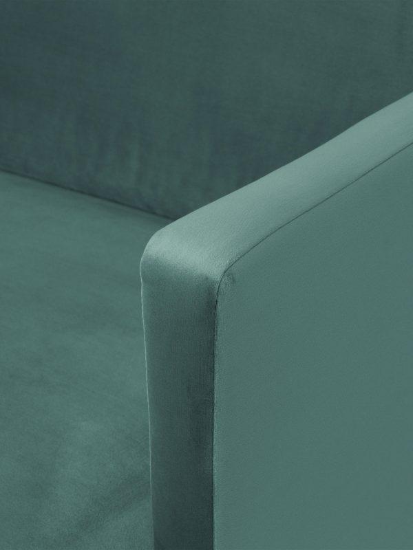 Nurgadiivan 'FLUETTE', elegantne disain, metallist jalad