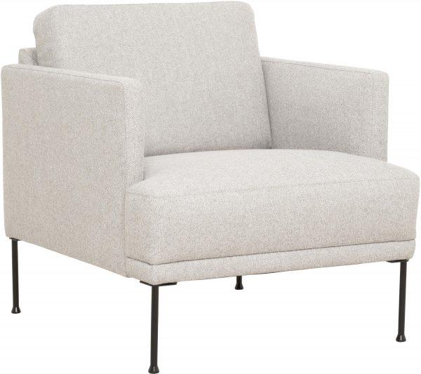 Tugitool 'FLUETTE', elegantne disain, metallist jalad
