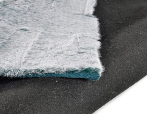 TOM TAILOR vaip 'FURRY', turquoise, kõrgus 25mm, erinevad mõõdud