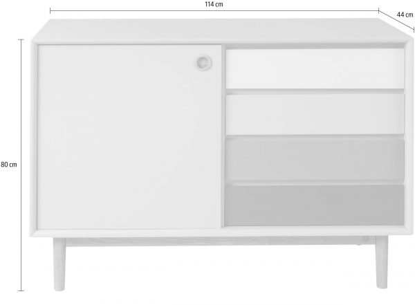 TOM TAILOR kummut 'COLOR BOX SMALL SIDEBOARD', erinevad värvid, laius 114cm