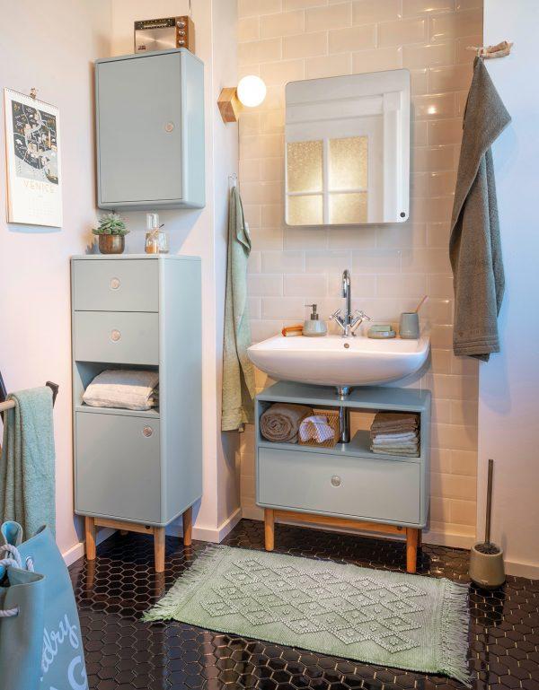 TOM TAILOR vannitoavaip 'VINTAGE WASH', green, kõrgus 6mm, erinevad mõõdud