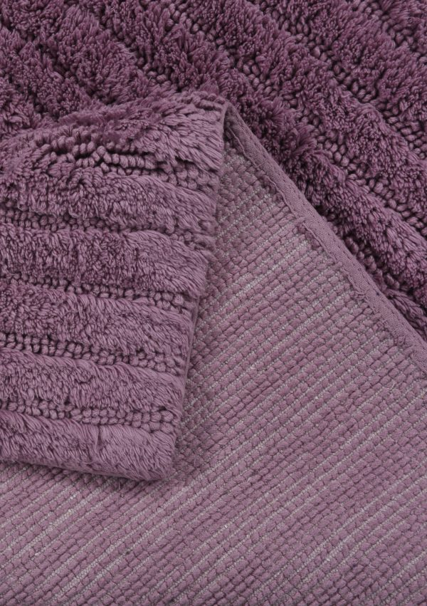TOM TAILOR vannitoavaip 'COTTON STRIPES', mauve, kõrgus 20mm, erinevad mõõdud