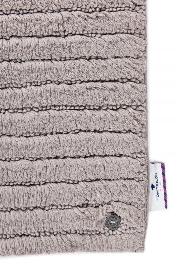 TOM TAILOR vannitoavaip 'COTTON STRIPES', taupe, kõrgus 20mm, erinevad mõõdud