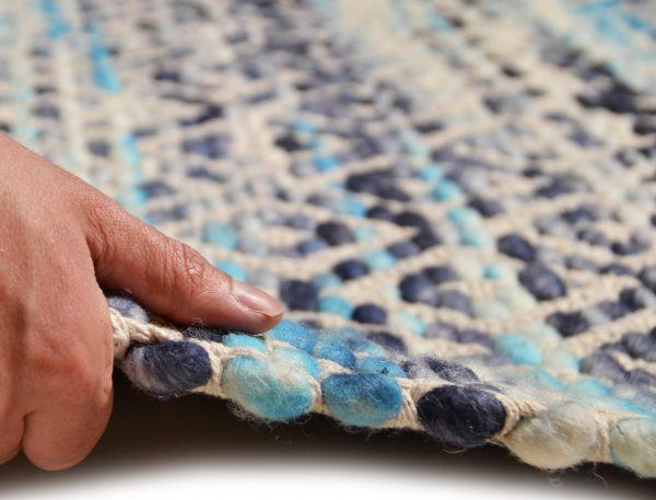 TOM TAILOR villavaip 'DIAMOND', blue, kõrgus 8mm