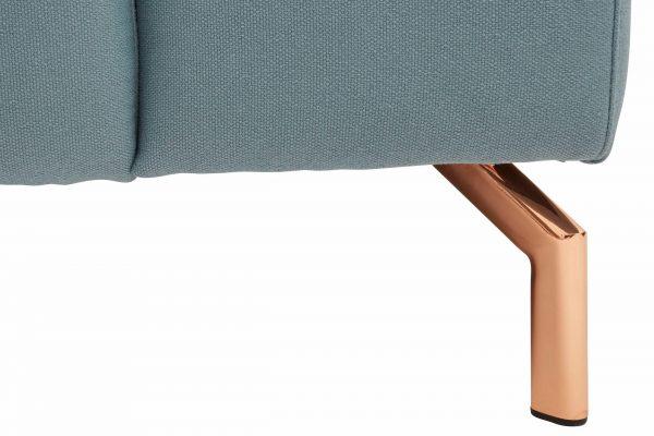 Luksuslik XL nurgadiivan 'COPPER', mugav peatugi, vase toonis metallist jalad