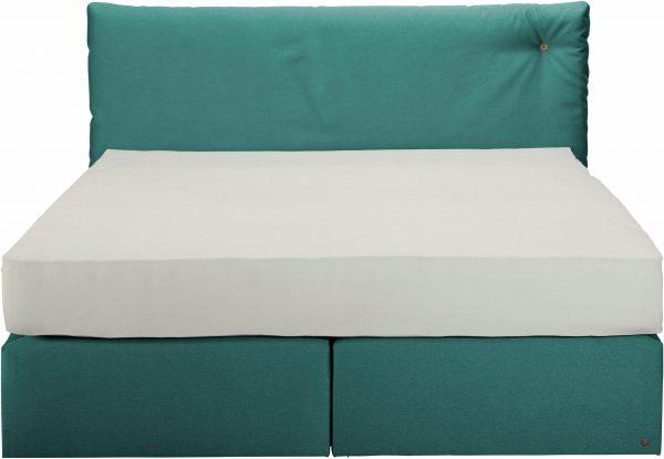 TOM TAILOR kontinentaalvoodi 'SOFT CLOUD BOX', dekoratiivse nööbiga peatsil