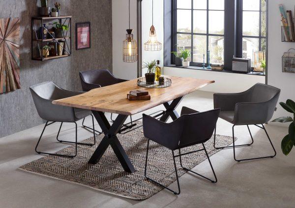 TOM TAILOR söögilaua tool 'T-VELVET' käetugedega, 4 värvi
