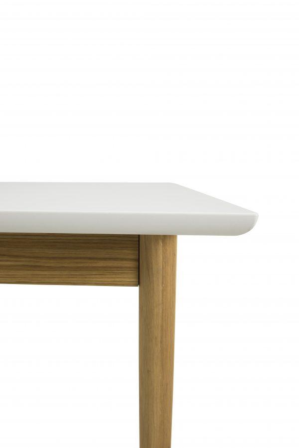 TENZO pikendatav söögilaud 'SVEA', 195/275x90cm, valge lauaplaat