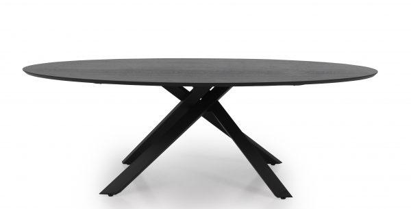 TENZO ovaalne söögilaud 'COX', 240x120cm, must struktuurne lauaplaat