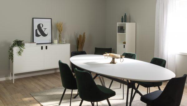 TENZO ovaalne söögilaud 'CIBUZ', 240x120cm, valge lauaplaat