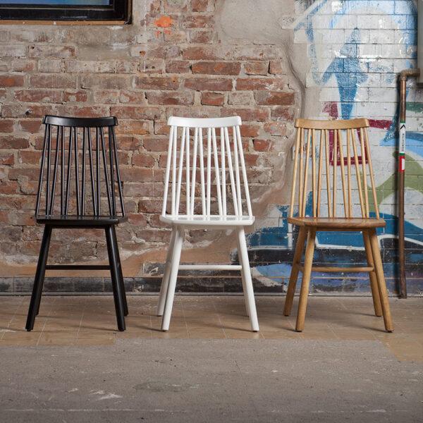 HANS K söögilaua tool 'ZigZag chair', erinevad viimistlused
