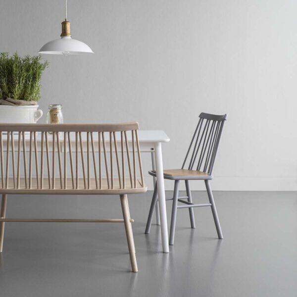 HANS K söögilaua tool 'ZigZag bench', erinevad viimistlused